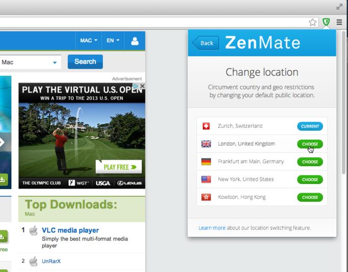 Bedava VPN: ZenMate!